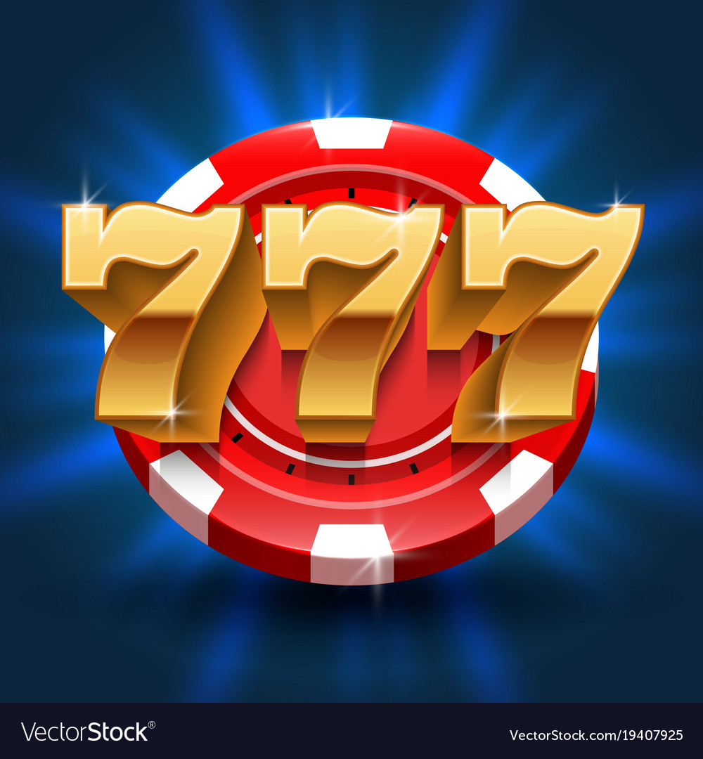 Lucky 777 numbers win slot background