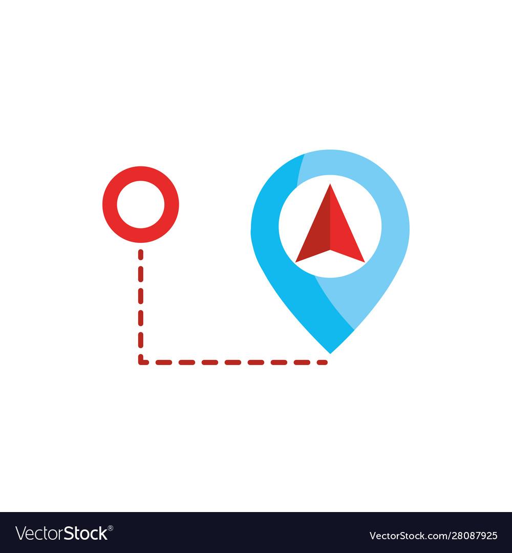 Marker pin location gps map and navigation