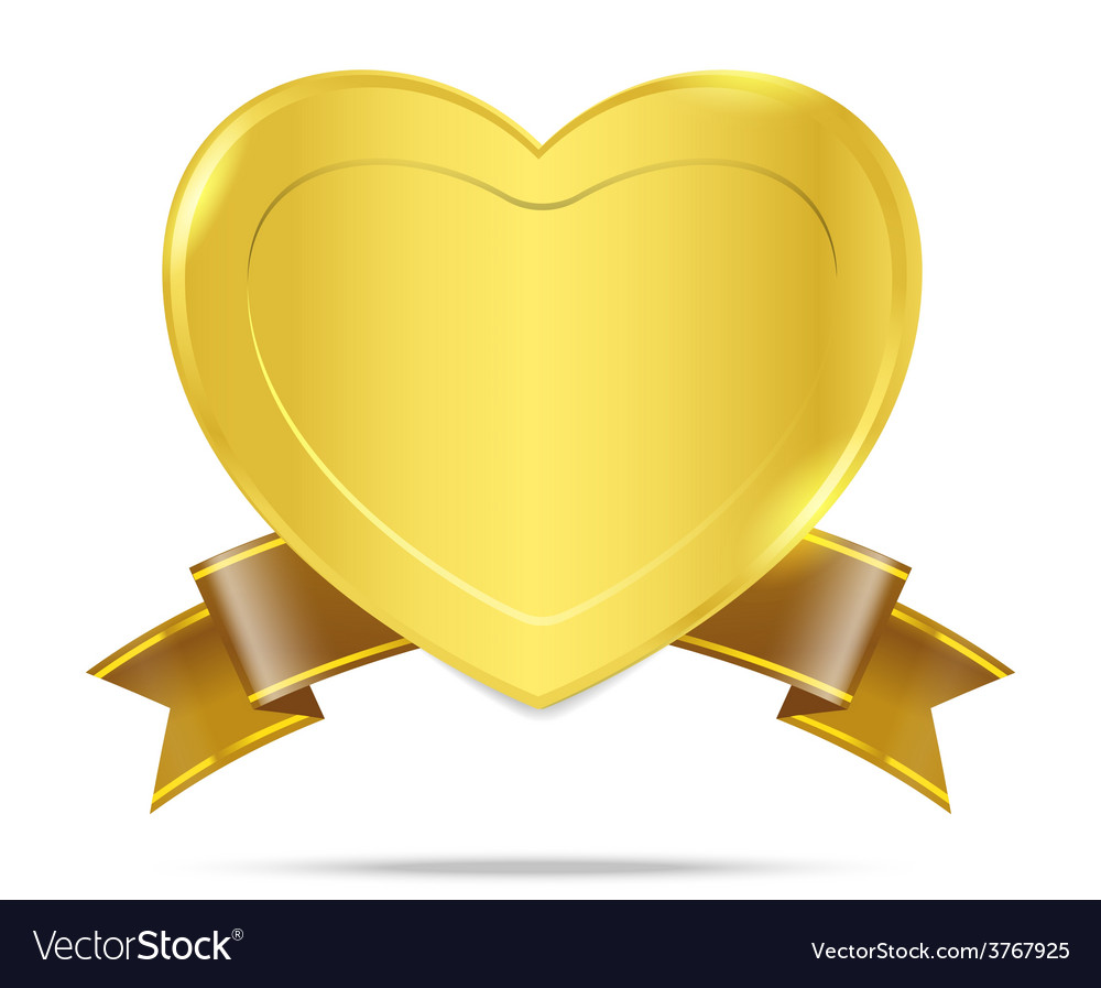 Premium Gold badge tag banner 005 vector image