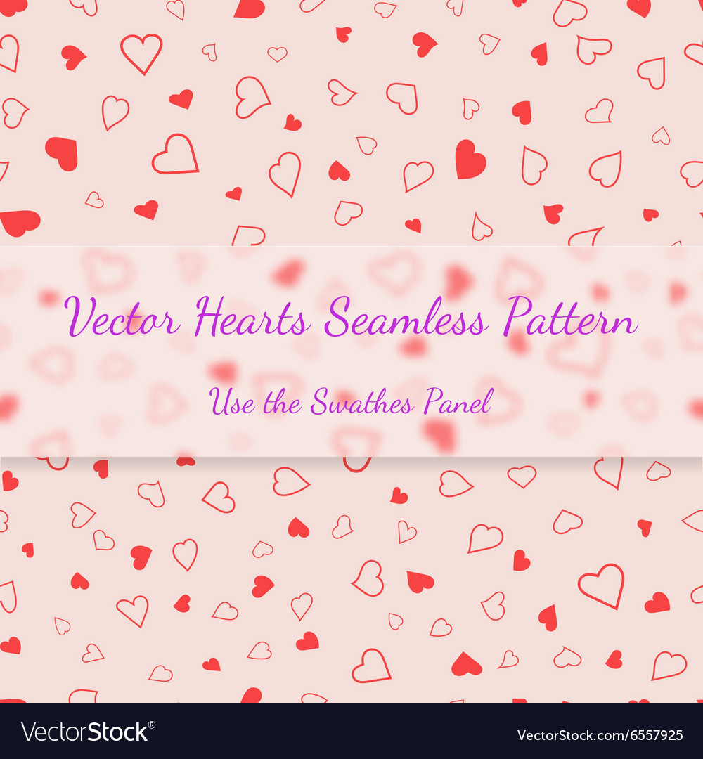Red hearts seamless pattern valentines texture