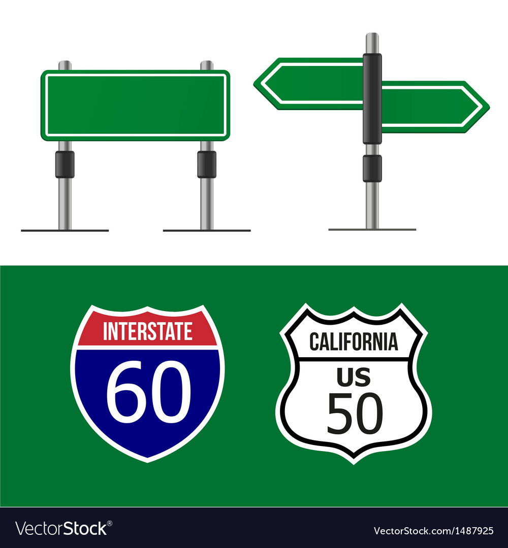 Road sign template vector image