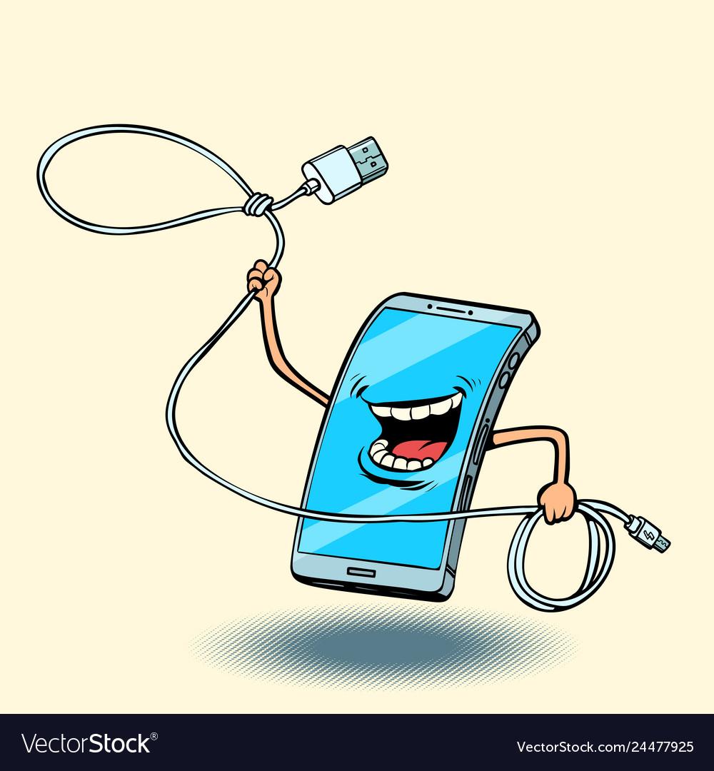 Smartphone and usb cord lasso