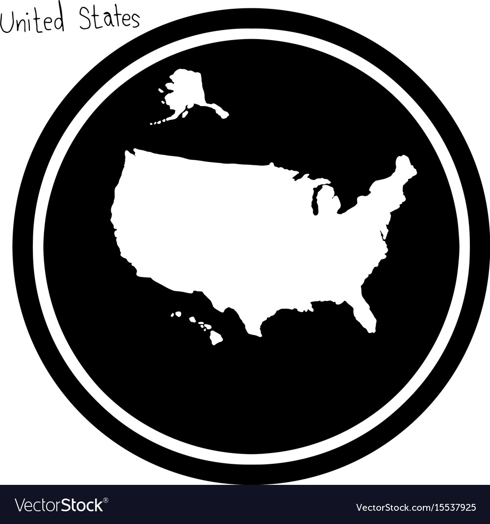 White map of the united states on