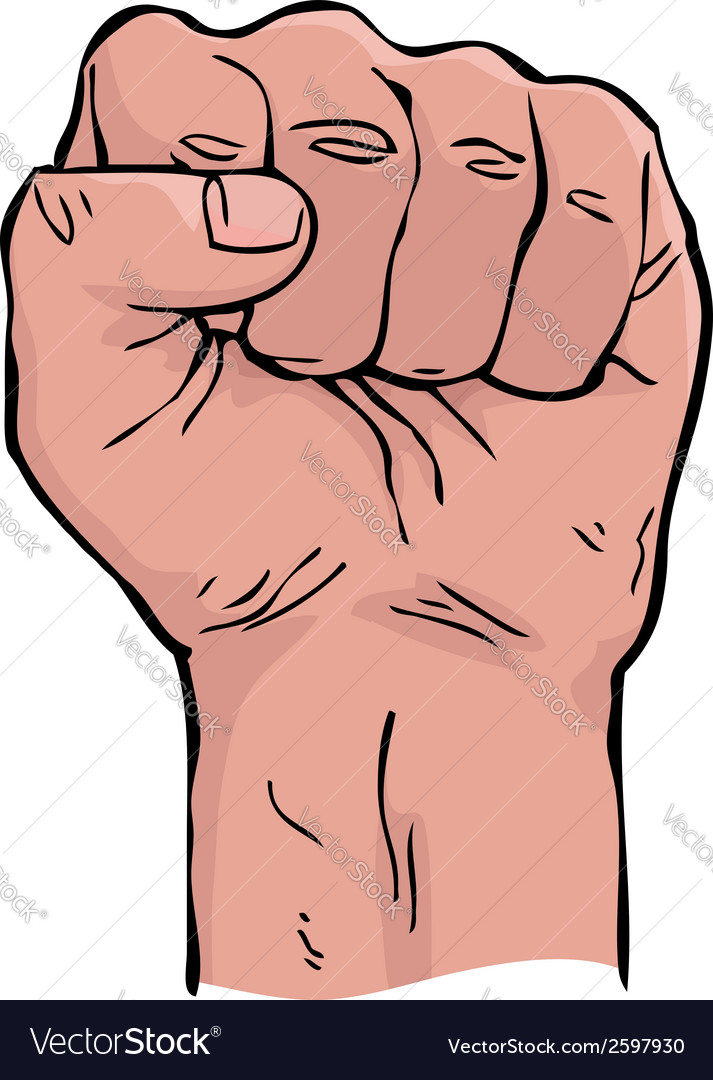 Cartoon fist vector image