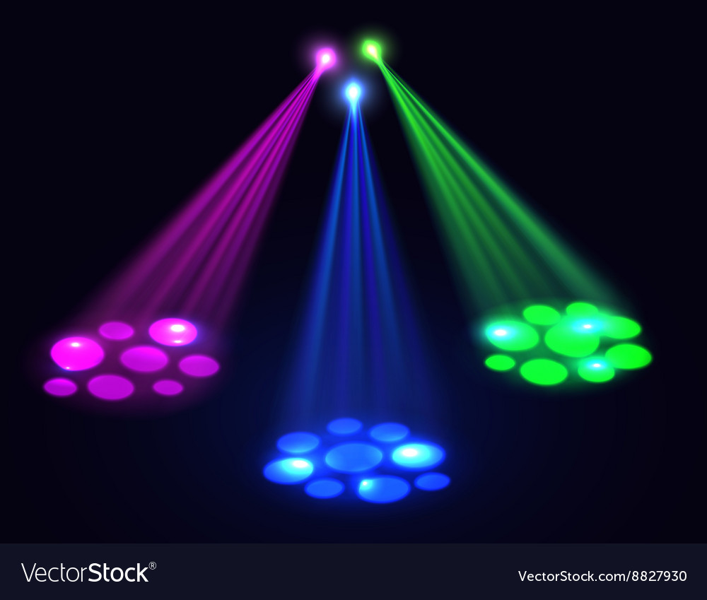 Club lights background spotlights effect