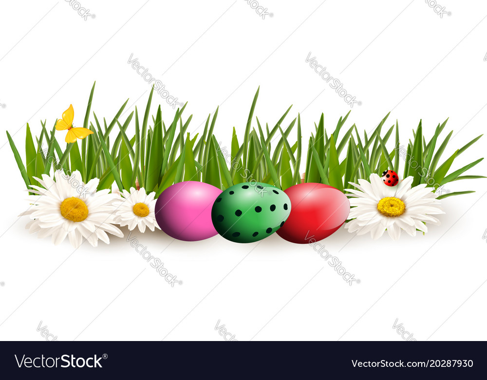 Easter clip art for greeting card with colored vector image m4hsunfo