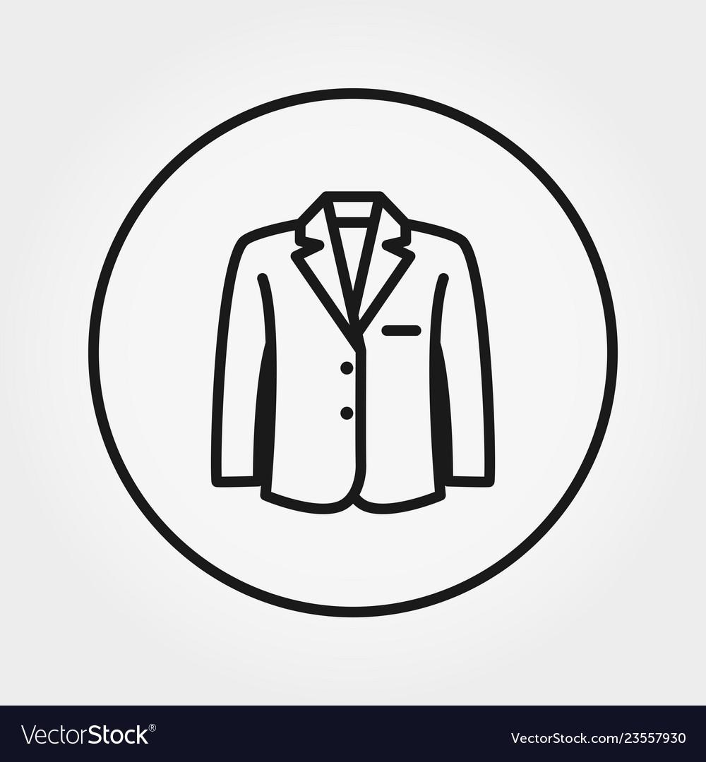 Jacket universal icon editable thin line