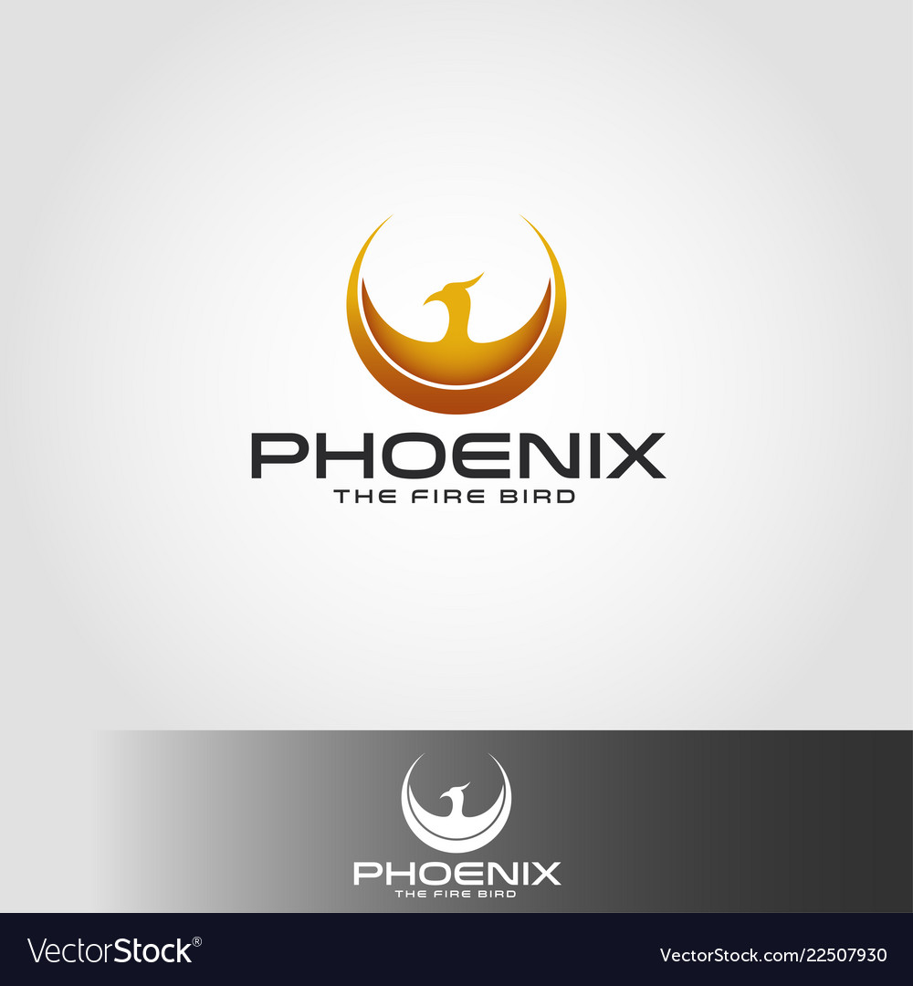 Phoenix logo with circle wings concept