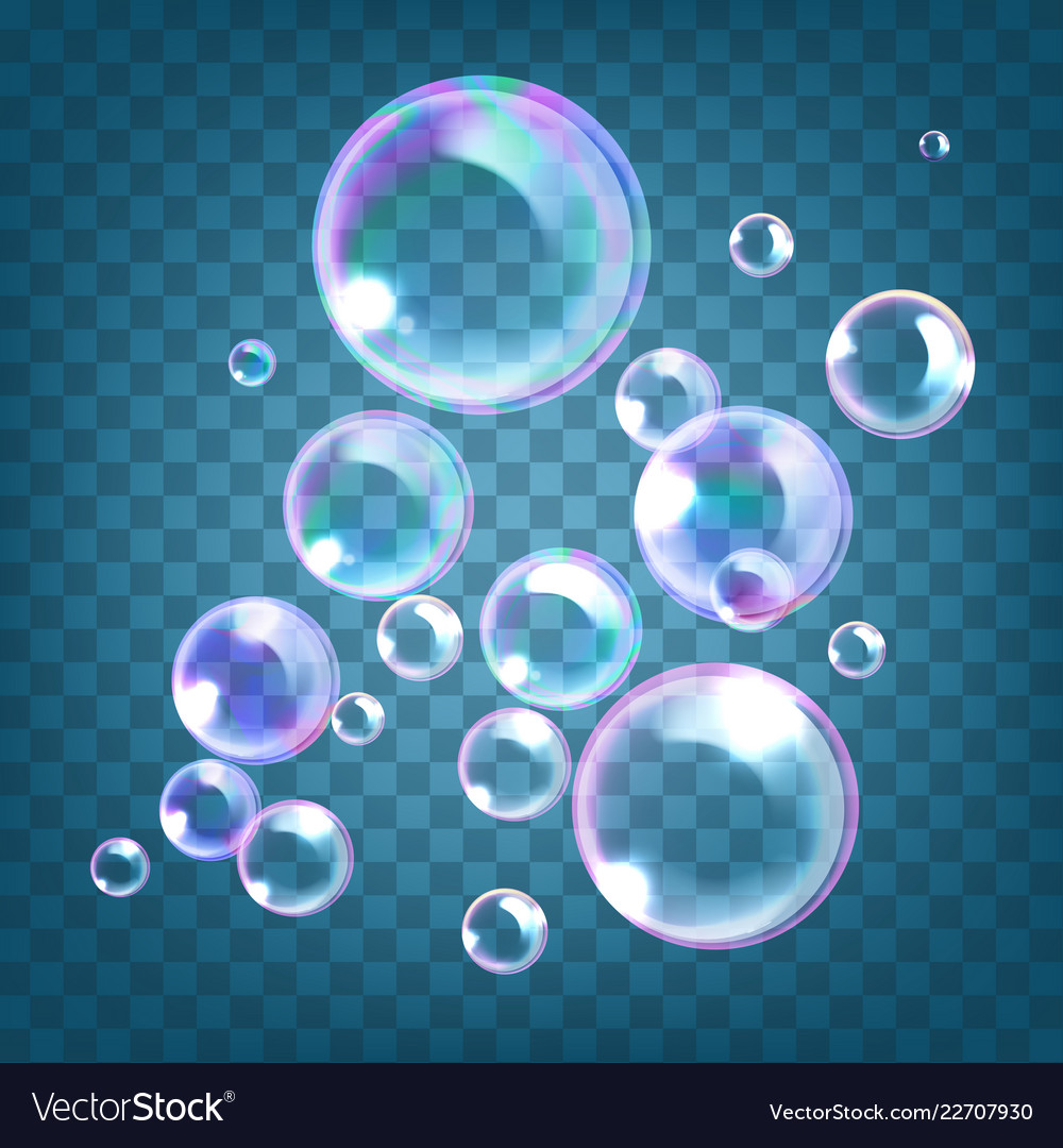 Realistic soap bubbles with
