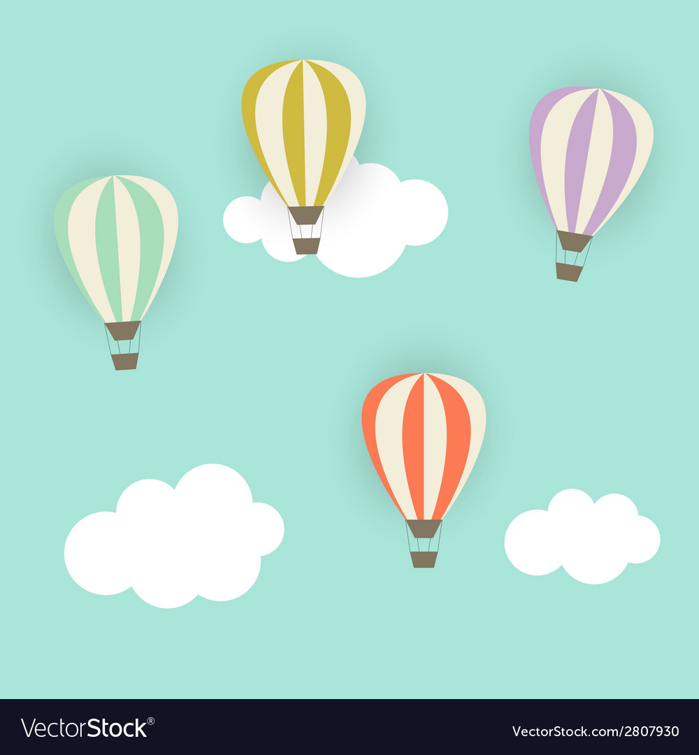 Retro Pattern with Air Balloons