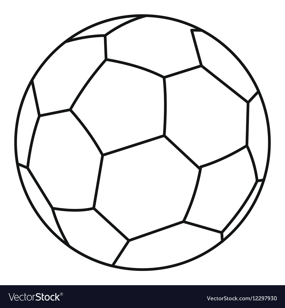 soccer ball icon outline style royalty free vector image rh vectorstock com vector soccer ball clipart vector soccer ball free