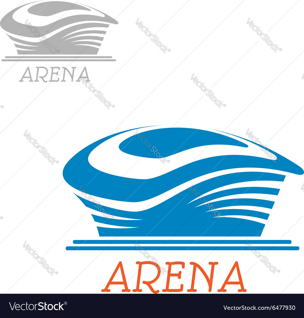 Sport stadium or arena abstract blue icon