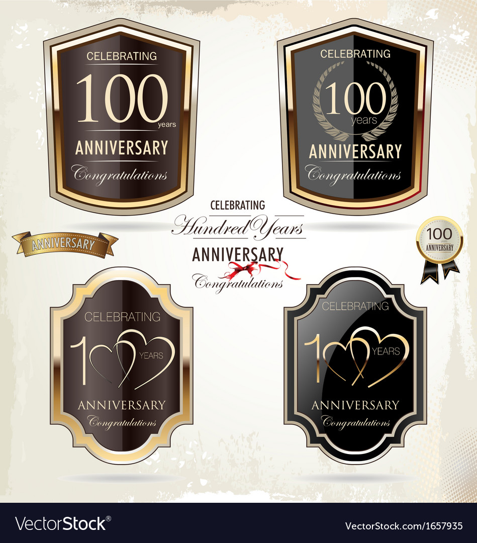 100 years Anniversary labels