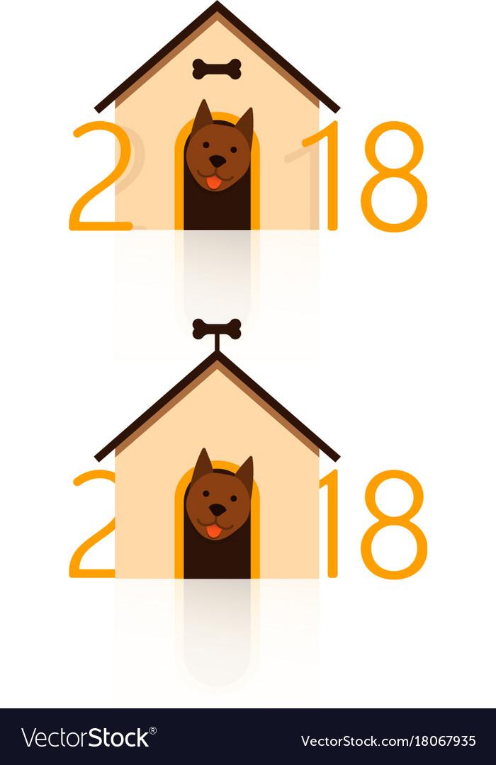 2018 happy new year greeting card celebration