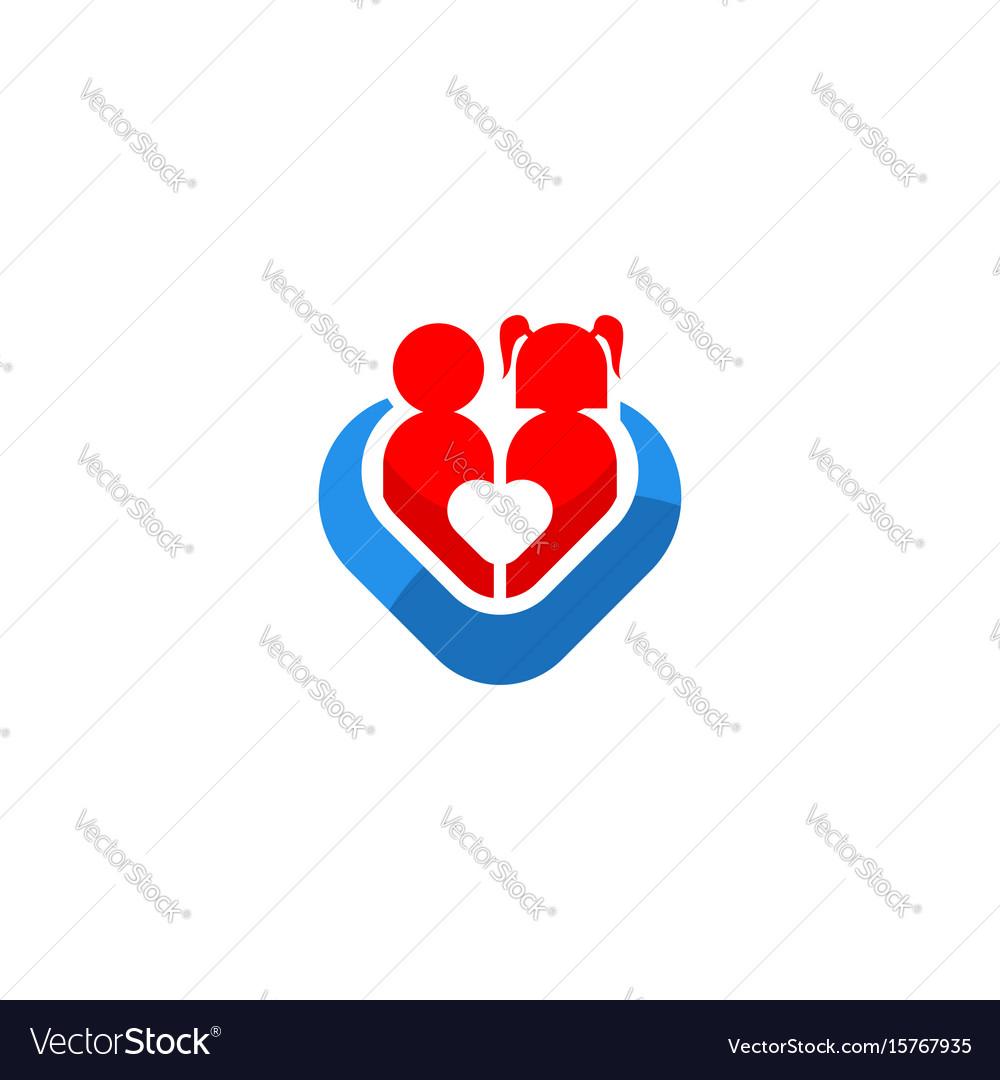 Children love care icon logo
