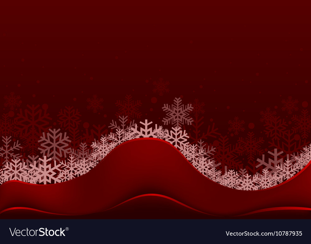 Christmas Greeting with Snowflakes vector image