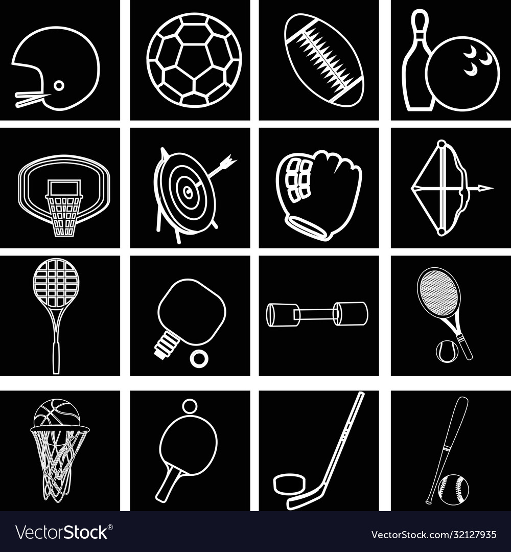 Collection icons for web design isolated on white