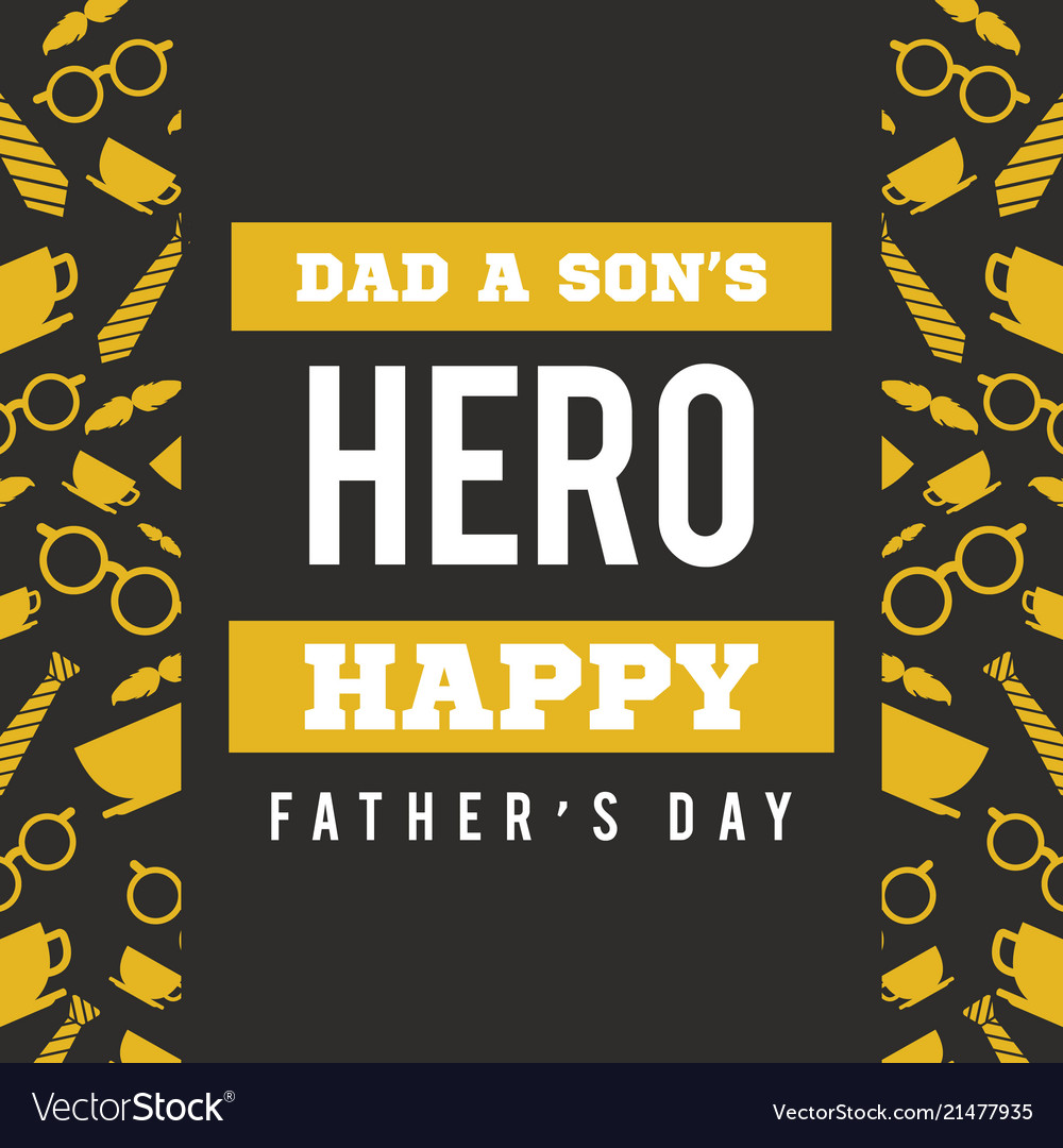 Father day greeting card hero royalty free vector image father day greeting card hero vector image m4hsunfo