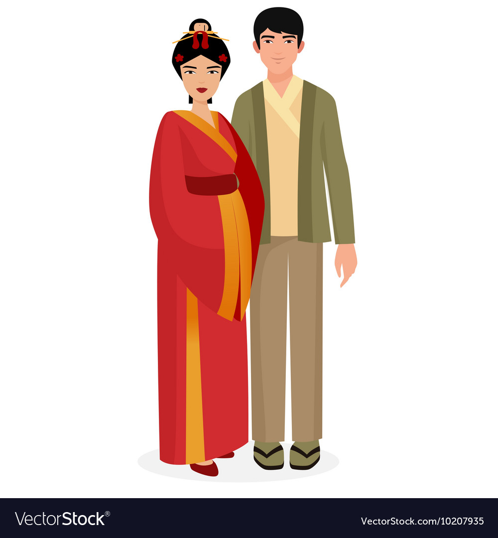 Japanese family Japan man and woman couple in
