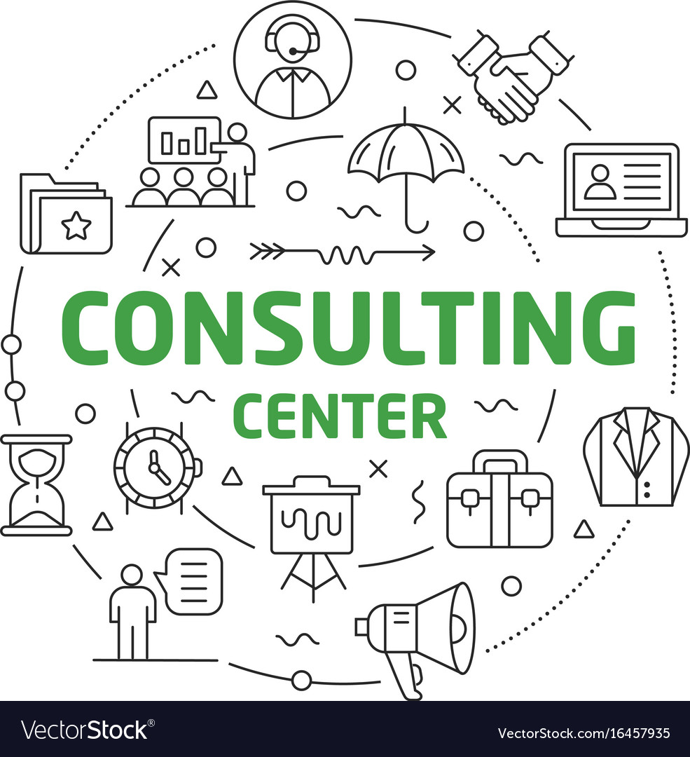 Line flat circle consulting center