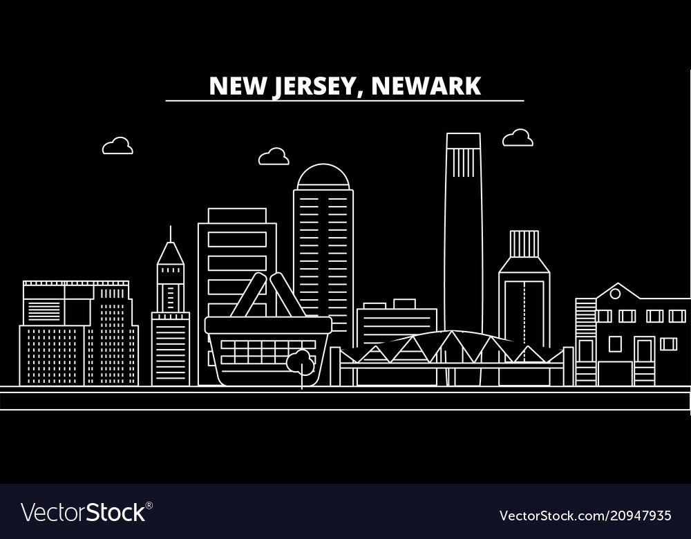 Newark silhouette skyline usa - newark