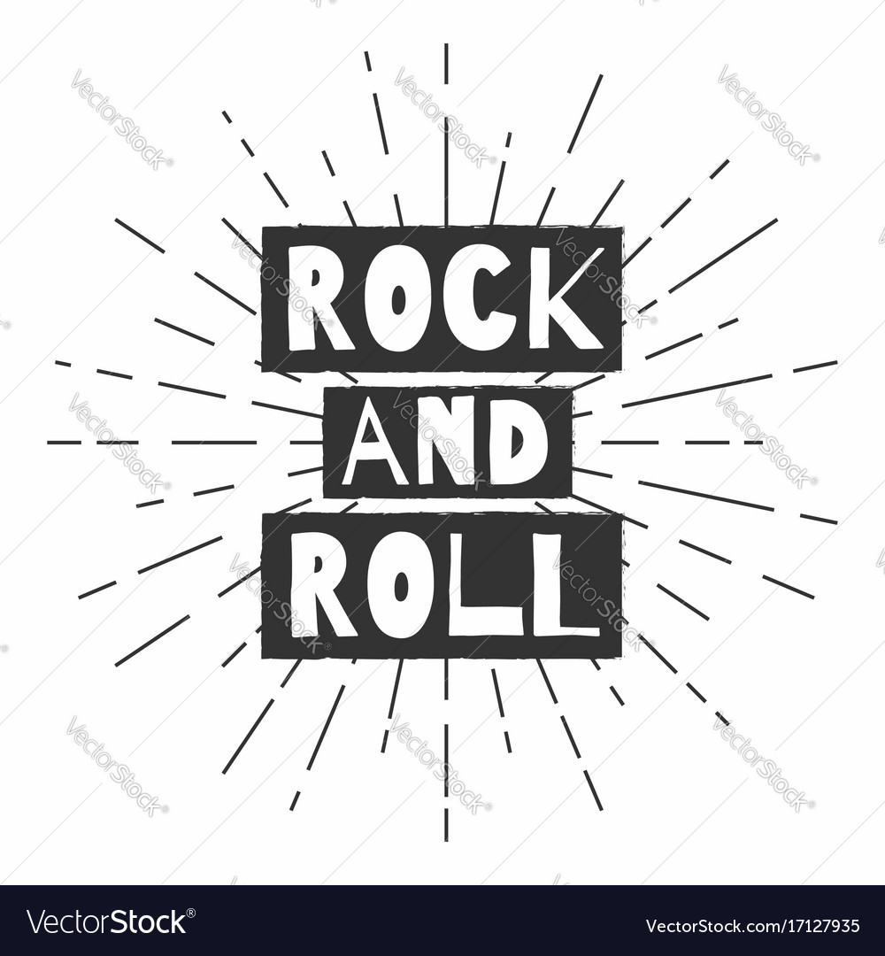 Rock and roll festival poster t-shirt graphics vector image