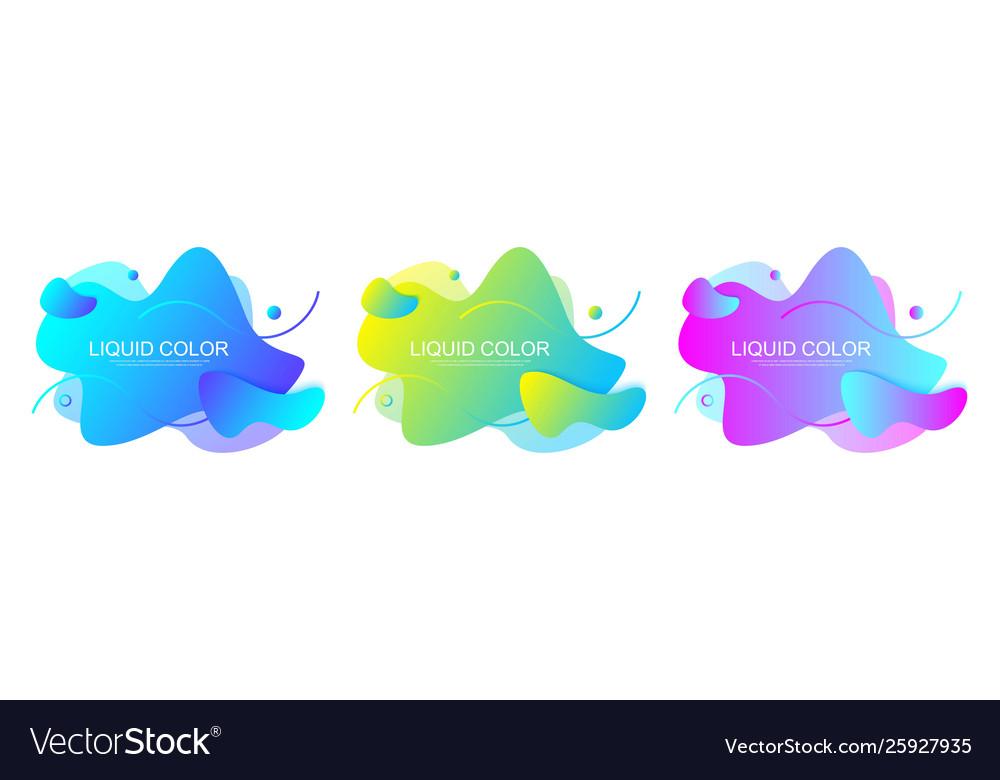 Set modern graphic design elements in shape of