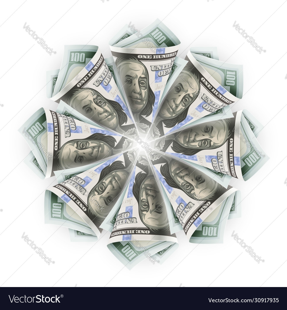 Money Origami FLOWER In POT Folded With Real One Dollar Bill Stock ... | 1080x1000