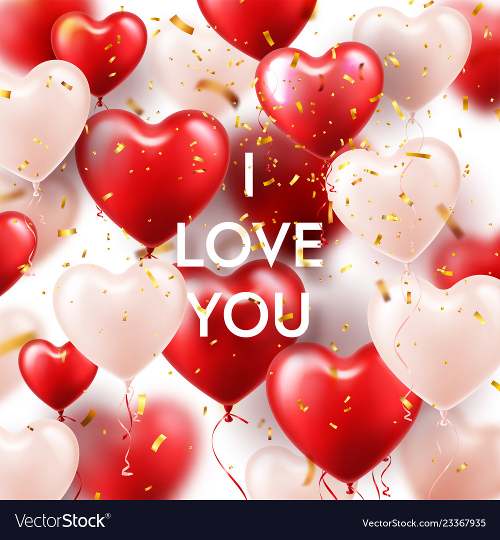 Valentines day background with white red heart