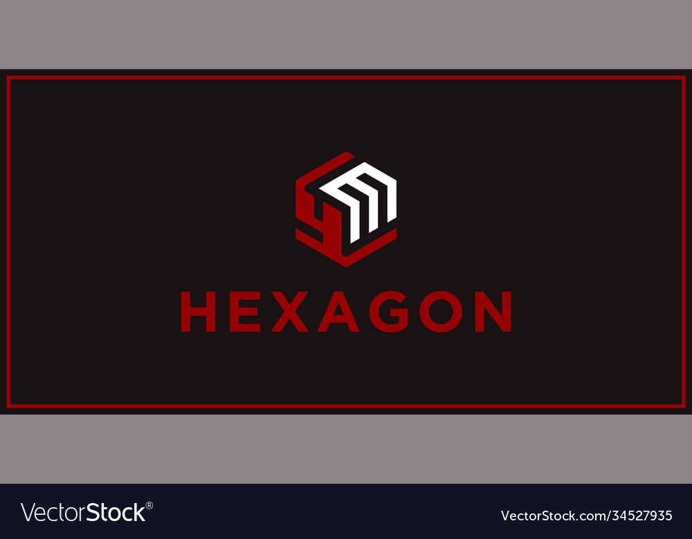 Ym hexagon logo design inspiration