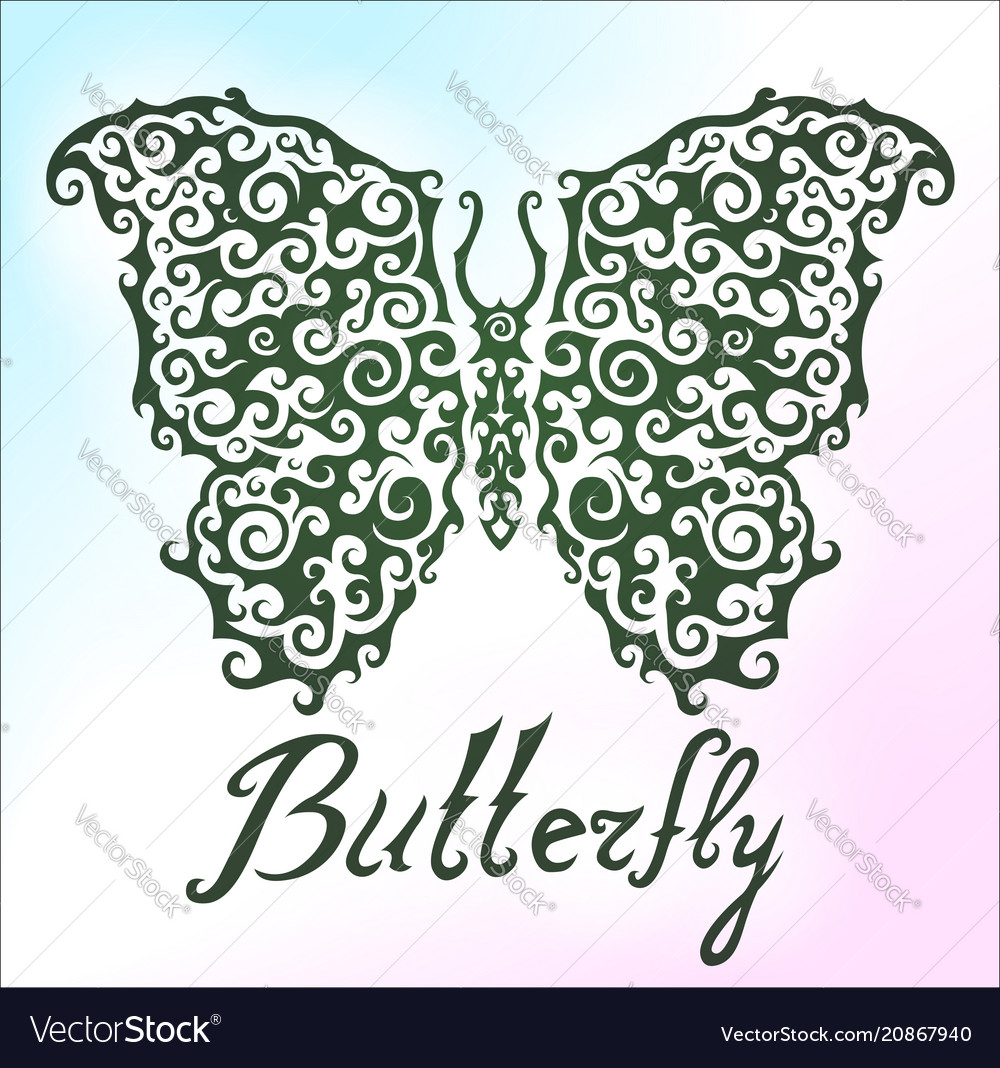 Beautiful pattern with butterfly