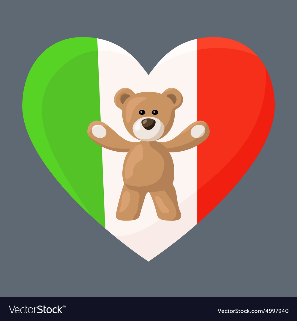 Italian Teddy Bears vector image