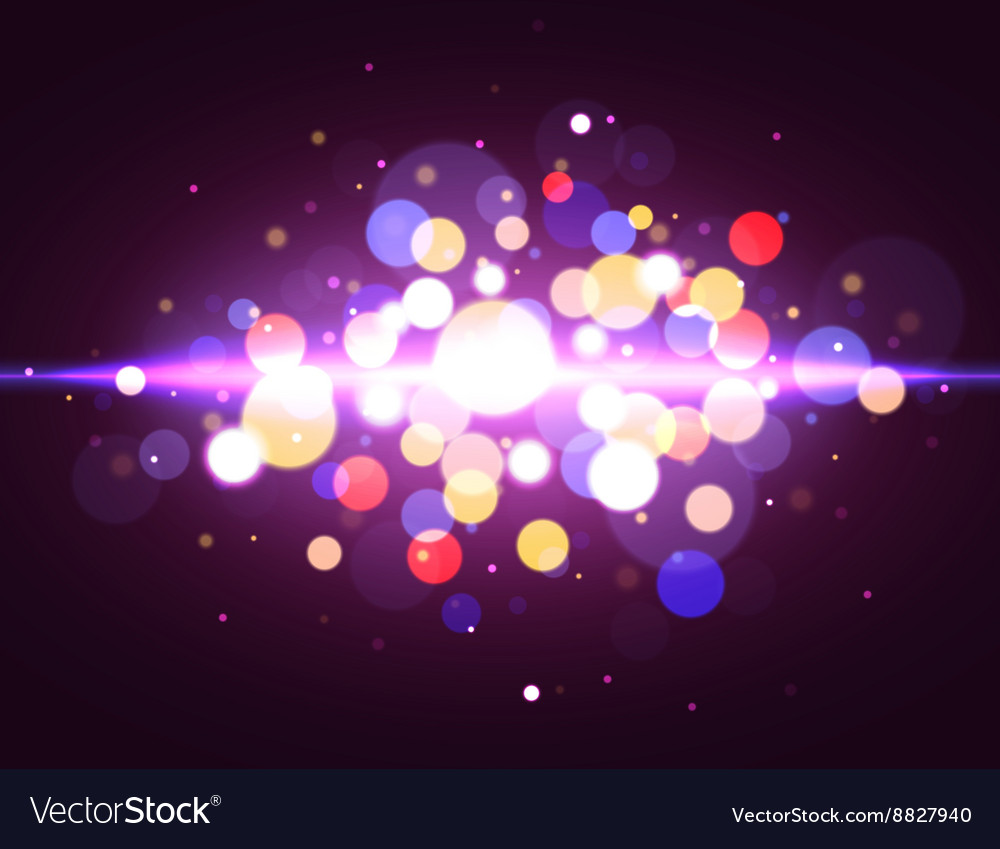Magic bokeh background with light effect vector image