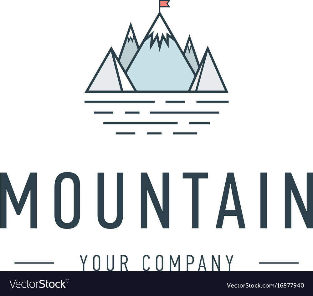 Mountain logo template travel and adventure