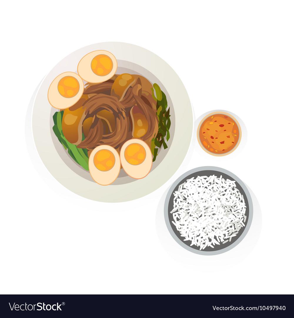 Stewed pork vector image