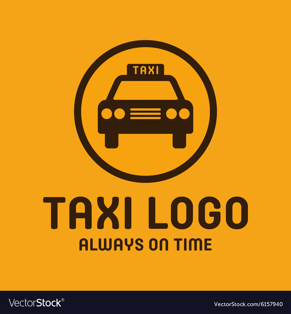 Taxi yellow logo icon style trend car sign