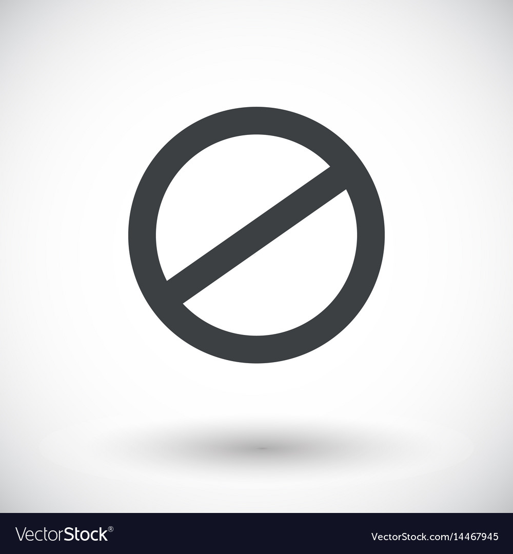 Deny icon prohibited sign with round shadow vector image