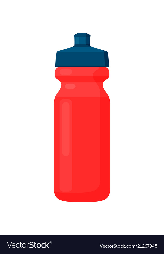 Fitness bottle red container with black cover