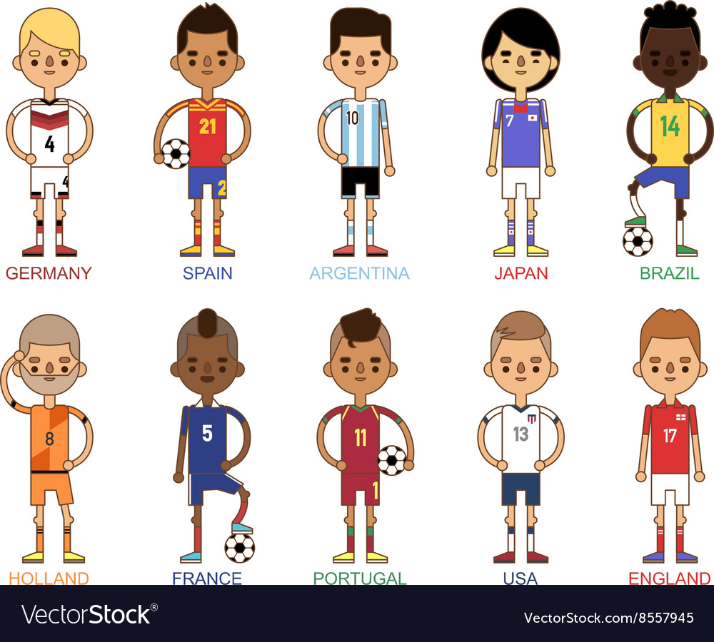 Football team sport soccer players group