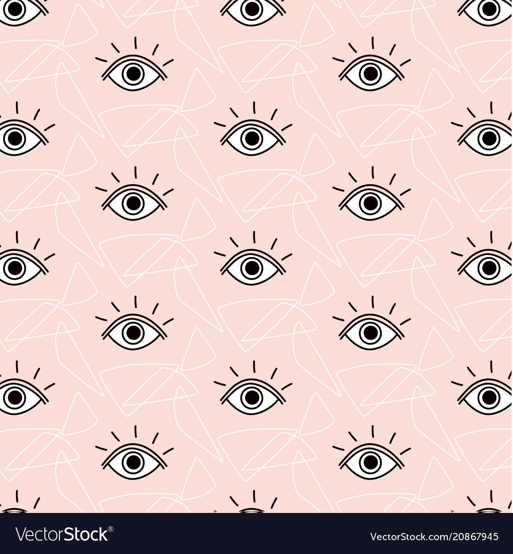 Funny opened eyes pattern simple cute