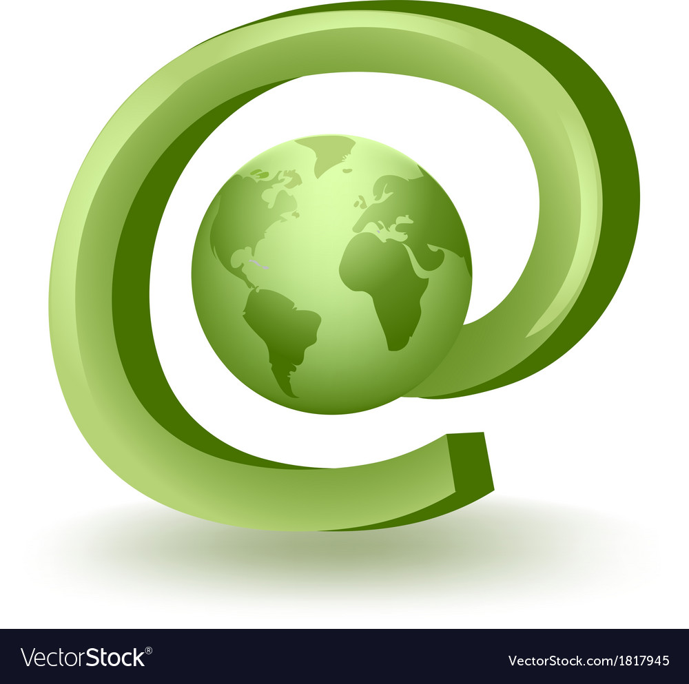 Global Mail vector image