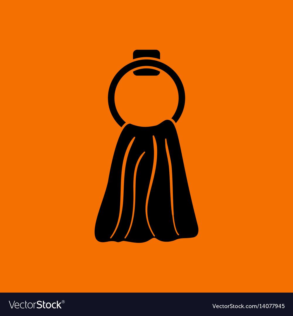 Hand towel icon vector image