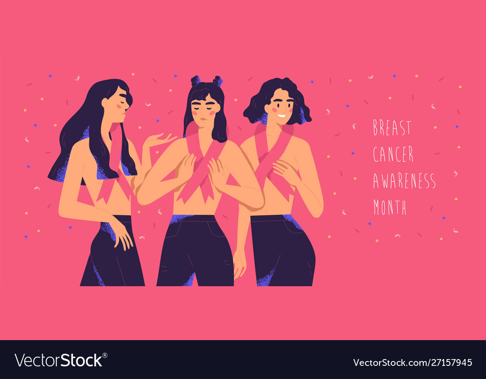 International breast cancer awareness month banner