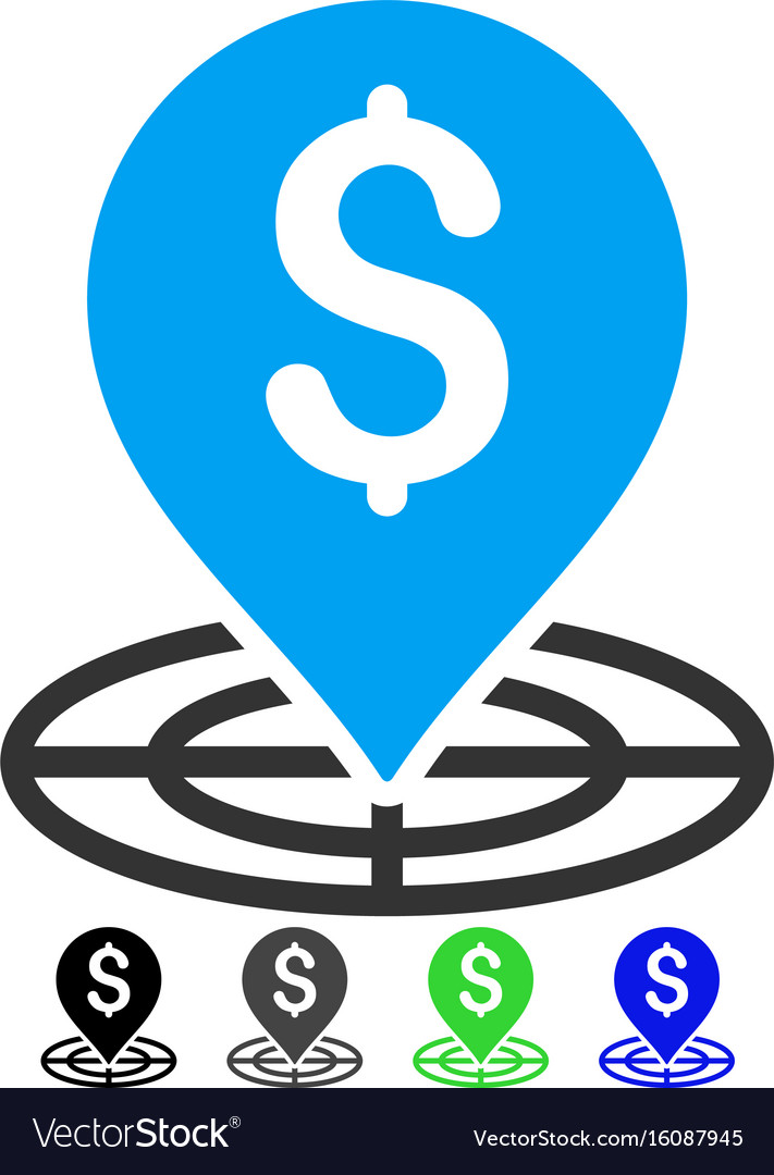 Money target flat icon