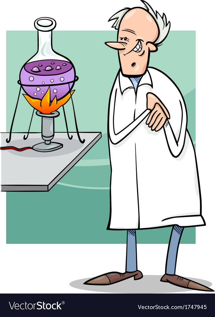 Scientist in laboratory cartoon vector image