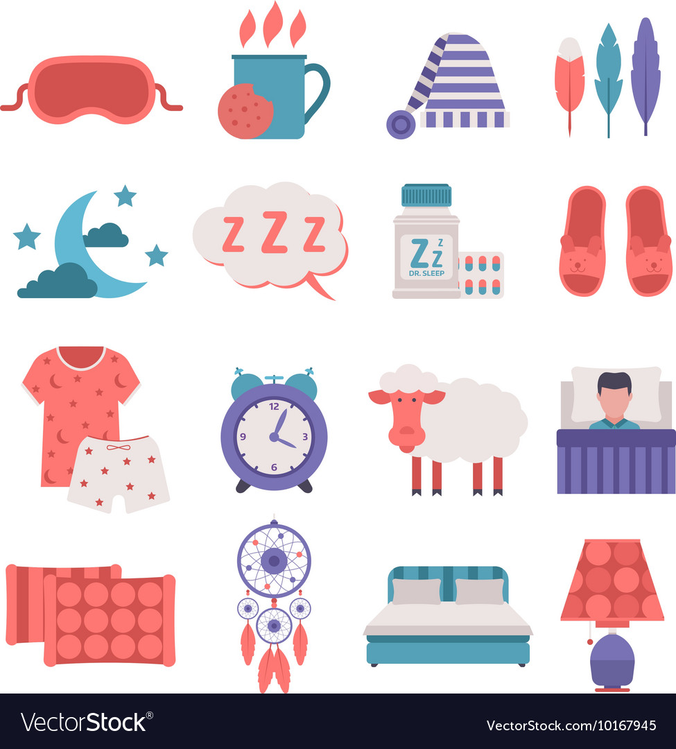 Sleep icons set