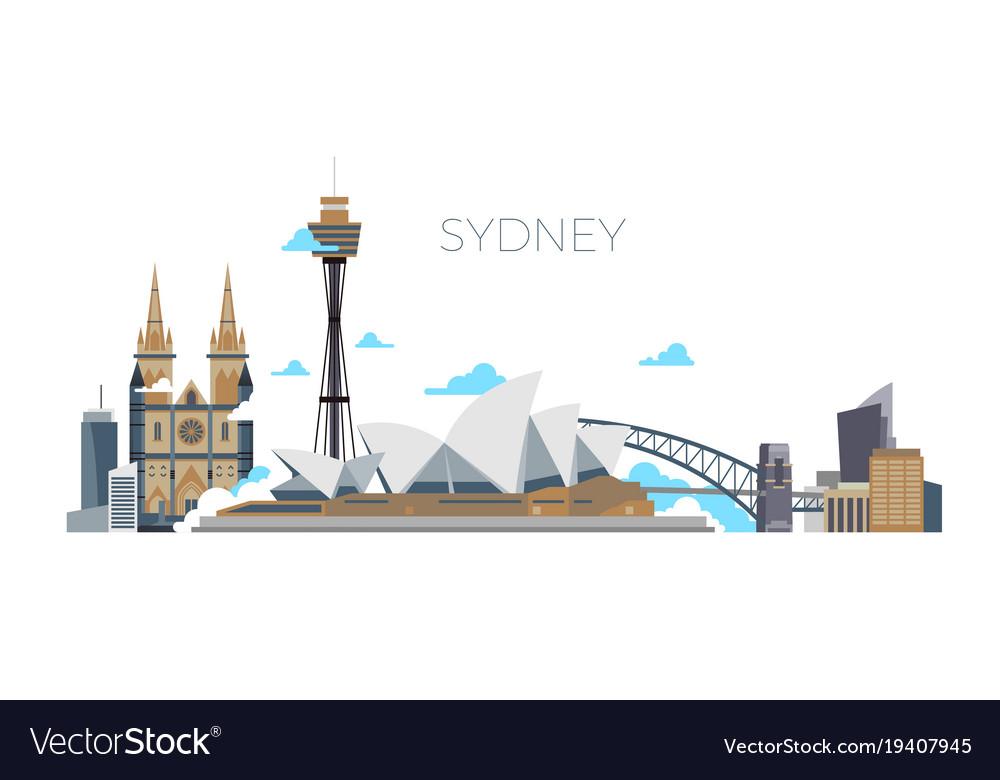 Sydney city panorama australia travel