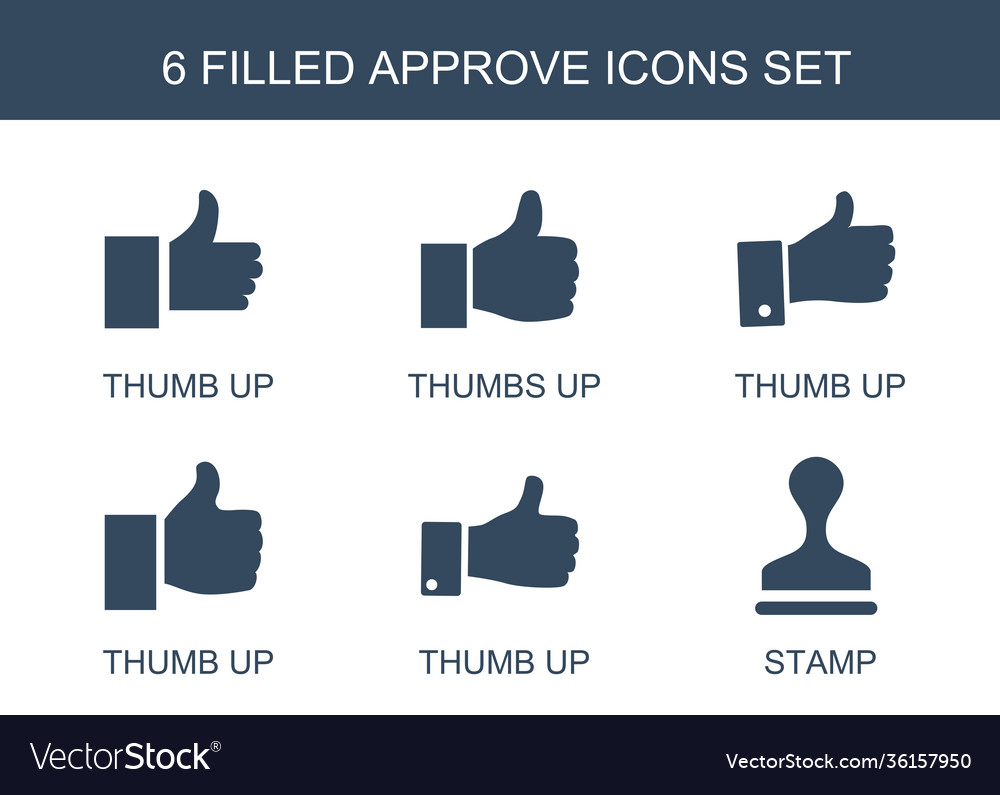 6 approve icons