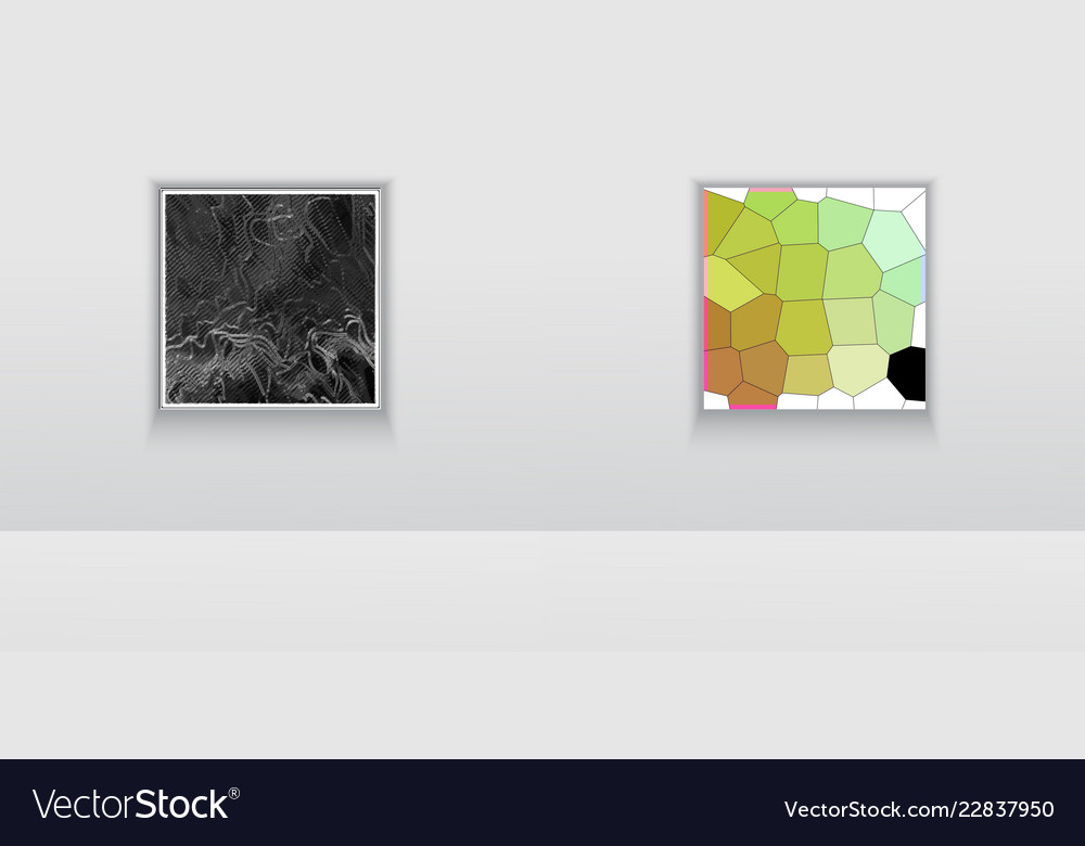 Digital art picture color on the wall in web