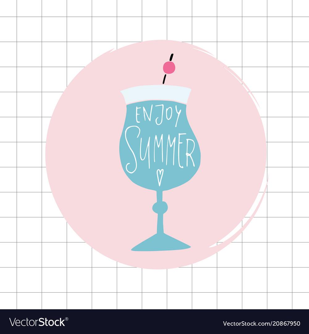 Enjoy summer greeting card invitation acoholic